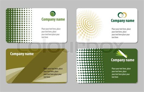 green business cards templates free green business cards templates collections stock vector