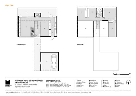 homes floor plans with pictures modern house thurlow house by harry seidler architect
