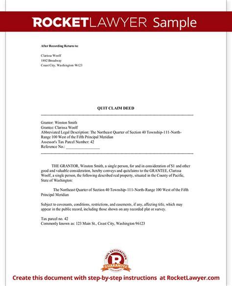 free printable quit claim deed washington state form quit claim deed washington state wa quit claim deed form