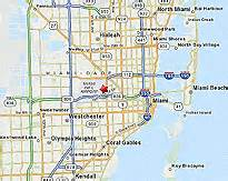 Miami Bus Map by Miami International Airport Public Transportation