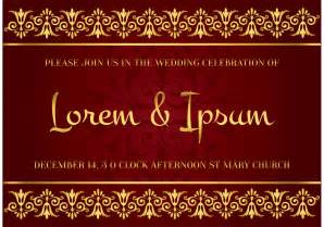 indian wedding cards vector files indian style wedding card free vector stock graphics images