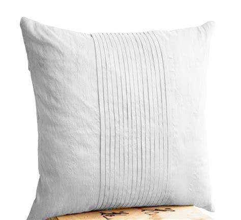 silk bed pillows items similar to white silk ripple pillow white pintuck