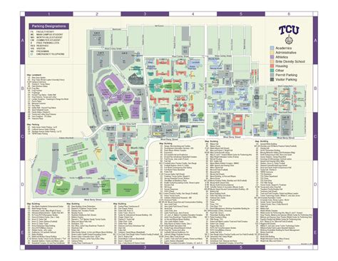 texas christian university map tcu physical plant maps