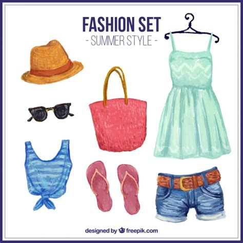 summer clothes painted summer clothes vector free