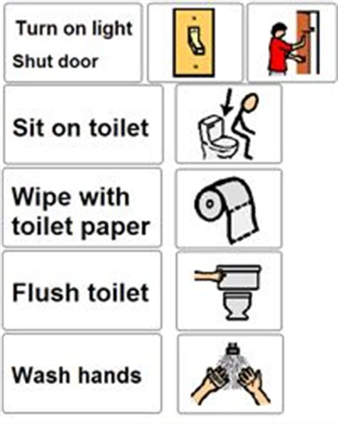 bathroom routine visuals 1000 images about communication boards on pinterest