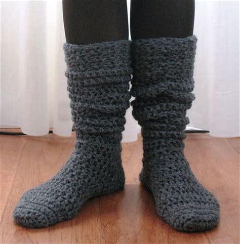 knitting pattern heavy socks 15 crochet knit pattern for knee socks diy to make