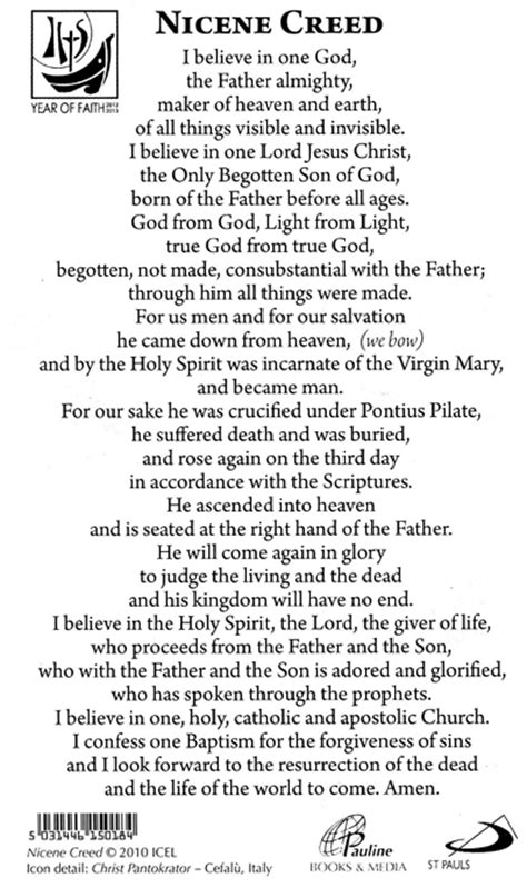 printable version nicene creed catholic creed pictures to pin on pinterest pinsdaddy