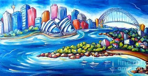 design art australia online sydney harbour painting by deb broughton