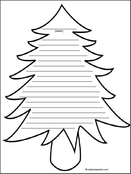 tree writing paper madebyteachers