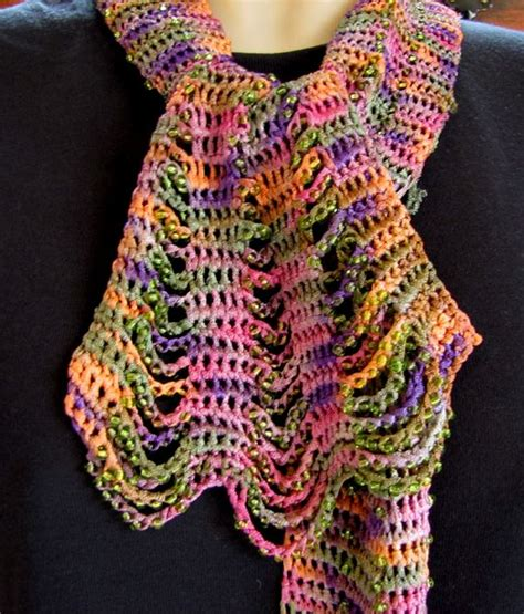 beaded crochet scarf pattern 20 best images about scarfs on