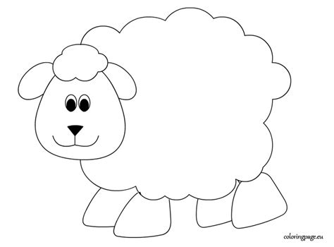 sheep outline coloring page sheep coloring page