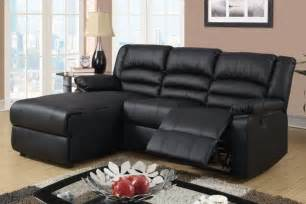 living room black reclining sofa with chaise lounge