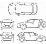 Offroad Suv Auto Outline Vector Vehicle Stock Art