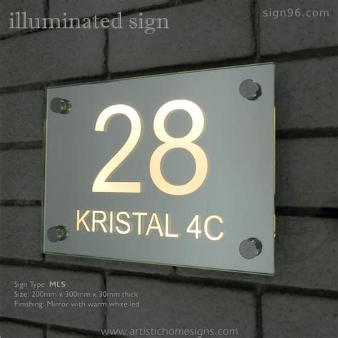 lighted house number sign led house numbers free jfbl cm solar led stainless steel