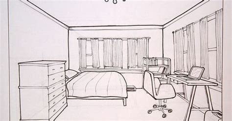 living room how to draw a living one point perspective drawn bedroom bed pencil and in color drawn bedroom bed