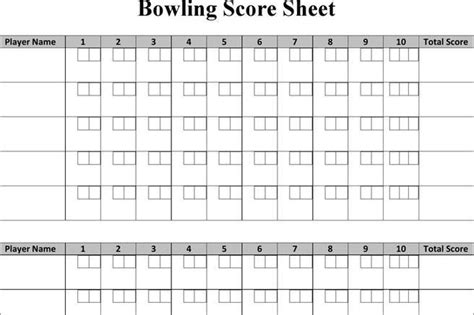 bowling score sheet template bowling score sheet image titled score bowling step 6 how