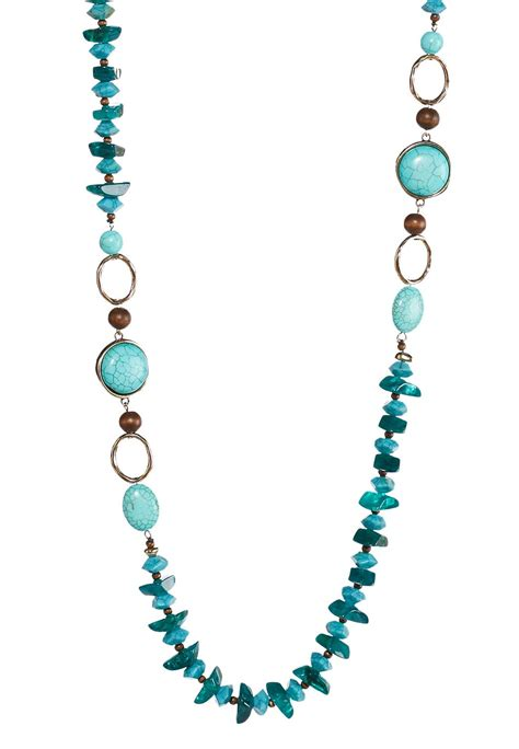 turquoise beaded necklace turquoise beaded necklace cato fashions