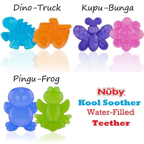 nuby kool soother water filled teether gigitan bayi isi air