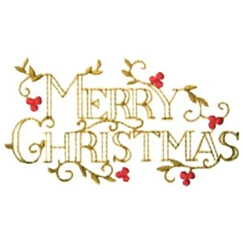 xms merry christmas embroidery design  golden needle designs top quality machine