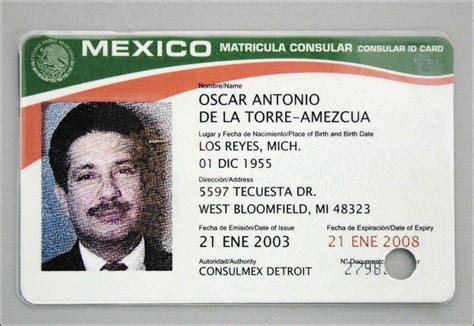 mexican id card template lucas county to accept mexican id card toledo blade