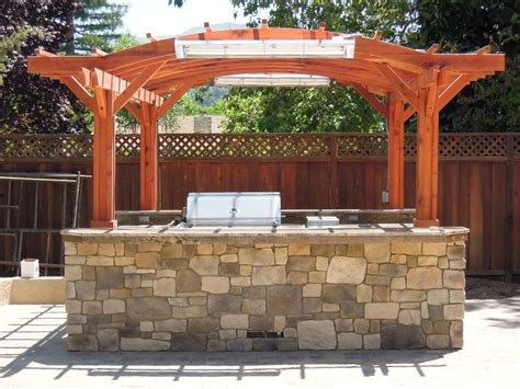pergola outdoor kitchen outdoor kitchen pergola custom redwood kitchen pergola kit