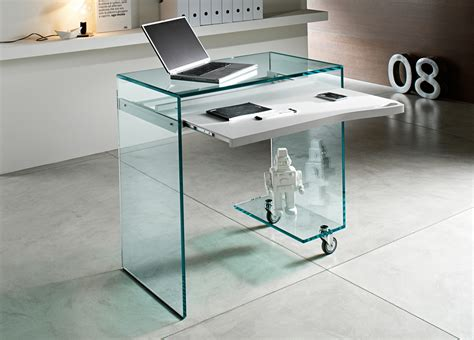 schreibtisch glas tonelli work box glass desk glass desks home office