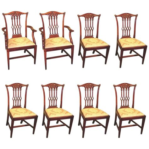 Chippendale Style Dining Chairs Set Of Eight 19th Century Chippendale Style Mahogany Dining Chairs For Sale At 1stdibs