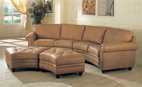 cindy crawford bedroom furniture discontinued gorgeous curve leather buckskin color sectional