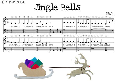 Starter Home Plans by Jingle Bells Very Easy Piano Sheet Music Let S Play Music