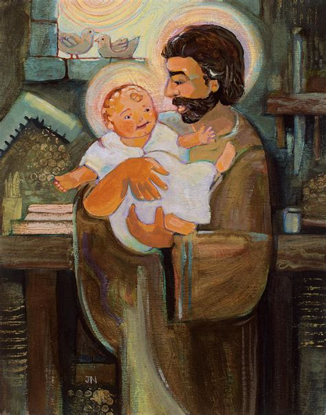 Home Decor Apps For Ipad St Joseph And Baby Jesus Painting By Jen Norton
