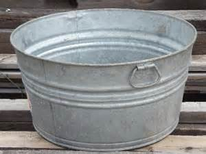 wash tub wash tub galvanized metal washtub w original vintage
