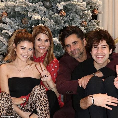 john stamos  lori loughlin smile  family christmas photo daily mail