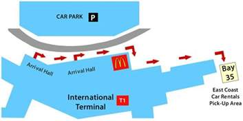 Sydney Airport Car Rental Map Sydney International Airport Terminal Customer Up