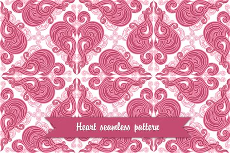 vintage heart pattern vintage heart seamless pattern patterns on creative market