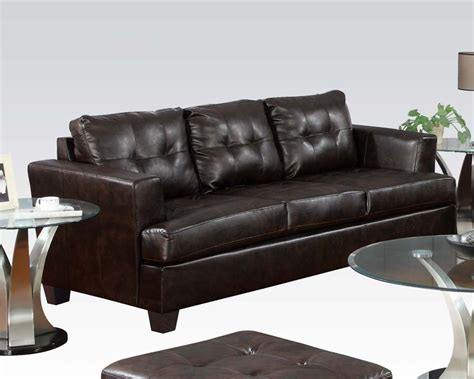 brown bonded leather sofa platinum by acme furniture ac15070b