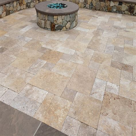 Walnut Travertine Pavers Sefa Stone Limestone Patio Pavers
