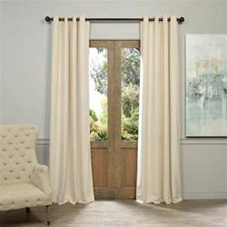 Ivory Blackout Curtains Solaris Mist Faux Suede Grommet Curtain 1 Panel 1627819 The Home Depot