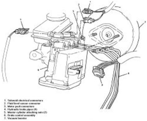 repair anti lock braking 1997 pontiac grand prix engine control repair guides anti lock brake system hydraulic modulator master cylinder assembly
