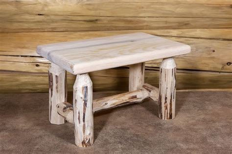 small rustic bench log foot stools rustic wooden bench amish made small log