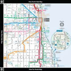 Chicago L Map by Cta Train Lines Map Bing Images