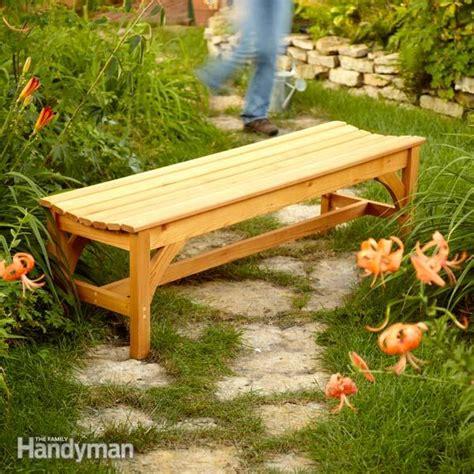 build  garden bench