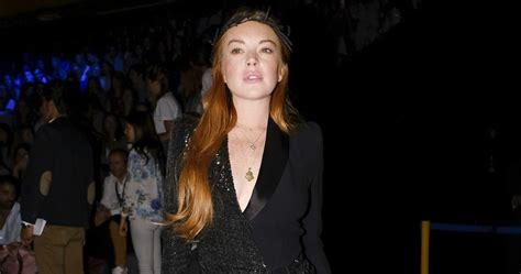 Lindsay Lohan Likes To A Lot by Lindsay Lohan Shows A Lot Of Leg At Madrid Fashion
