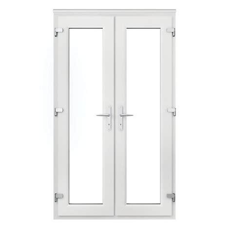 4ft upvc doors wickes upvc door 4ft with chrome handles wickes co uk