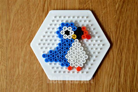 hama bead birds puffin keyring ted s