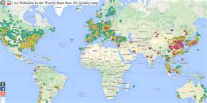 the world cities map map shows worldwide air pollution business insider