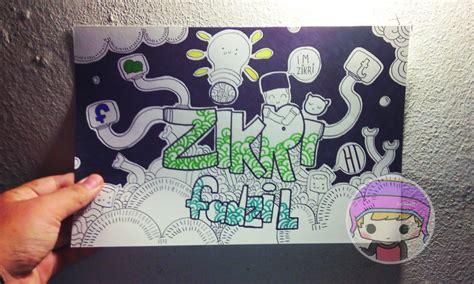 doodle nama kelas zakieazid august 2014