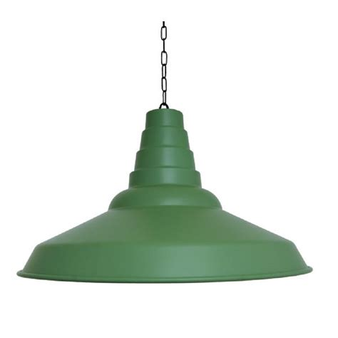 Factory Pendant Light with Green Metal Factory Ceiling Pendant Light In Large Size