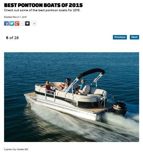 best pontoon boat options best pontoon boats cypress cay pontoons