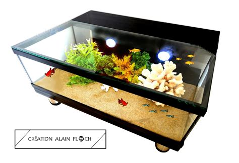 Table Aquarium Design by Table Basse Aquarium Design 32 Autospanh