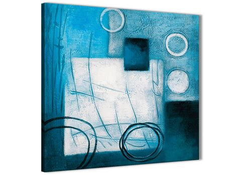 abstract bathroom wall art teal white painting kitchen canvas pictures accessories
